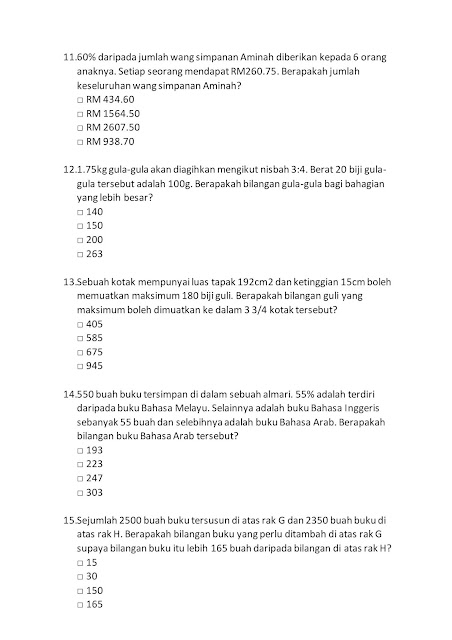 Contoh Soalan Peperiksaan SPA Pembantu Tadbir (Perkeranian/Operasi) N19 Sabah 2019
