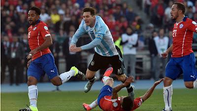 اهداف مباراة الارجنتين وتشيلي اليوم الاثنين 27 يونيو 2016 وملخص كورة يوتيوب نتيجة لقاء نهائي ميسي في كوبا امريكا 2016