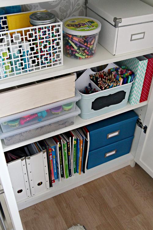 Iheart Organizing A Crafty Kid39s Cabinet