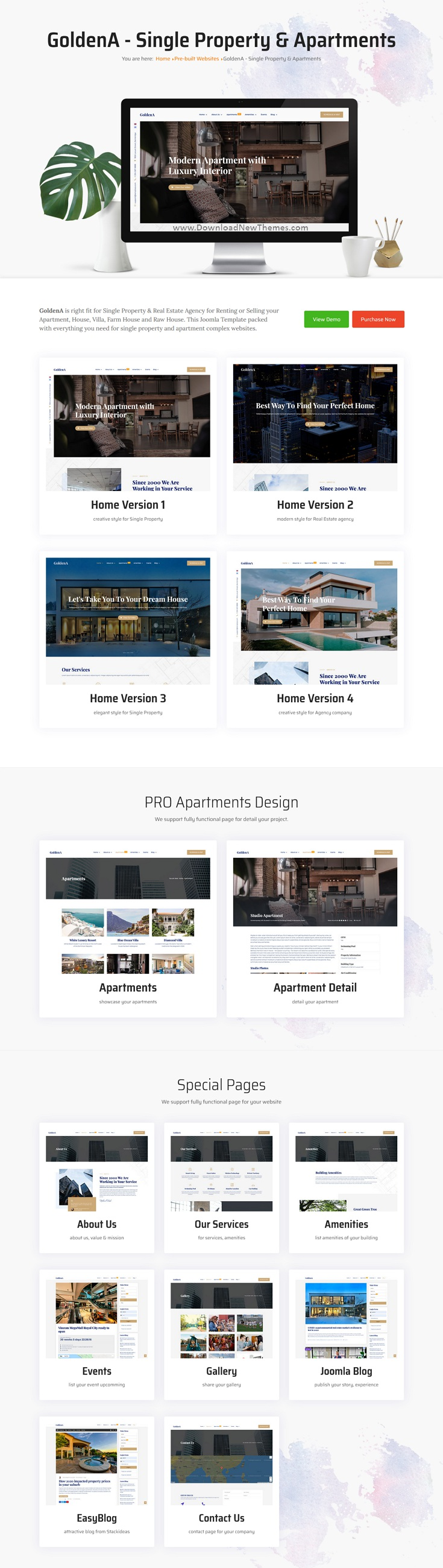 Single Property Premium Joomla Template