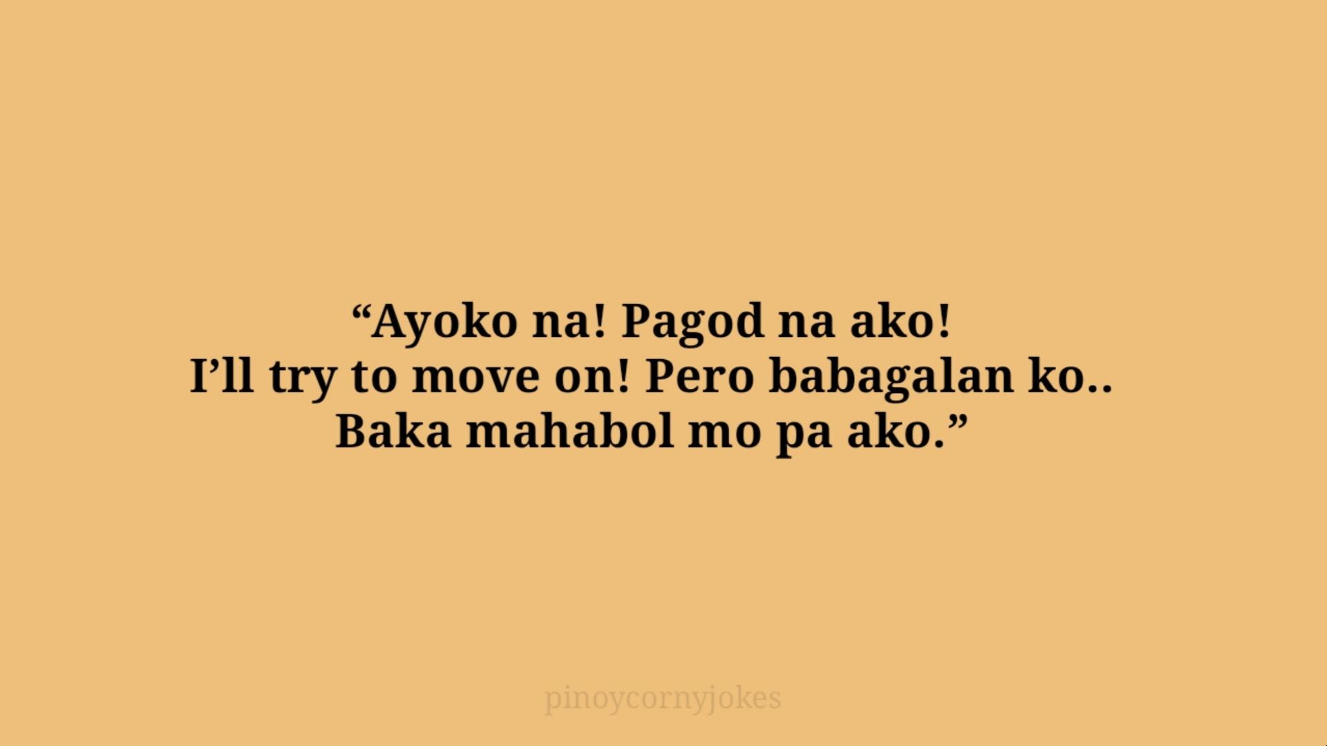 ayoko na tagalog corny jokes 2021
