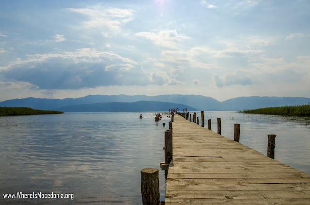 Krani Beach on Prespa Lake, Macedonia