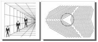 ENEM 2006: As linhas nas duas figuras geram um efeito que se associa ao seguinte ditado popular: