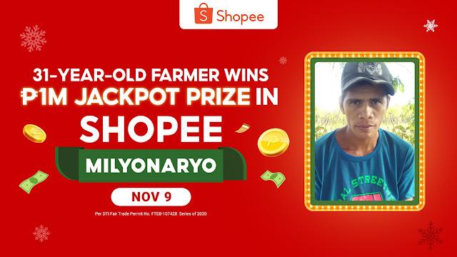 31-Year-Old Farmer wins P1M Jackpot Prize in Shopee Milyonaryo