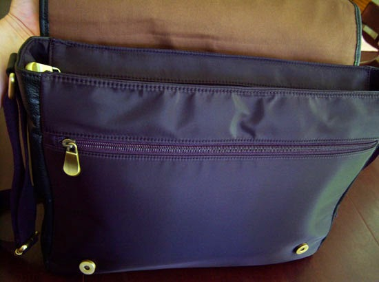 "Jill-e Designs Sasha 15"" Laptop Bag flap open"
