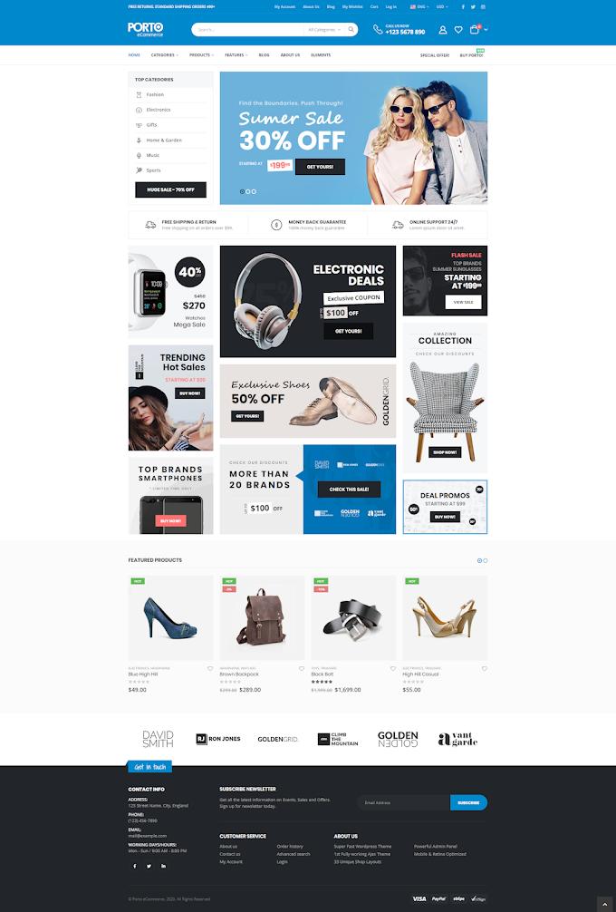 Mẫu website bán hàng 2020