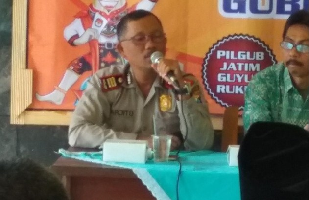 Kapolsek Pogalan: Pengamanan Pilgub Jatim 2018 Tanggung Jawab Kami!