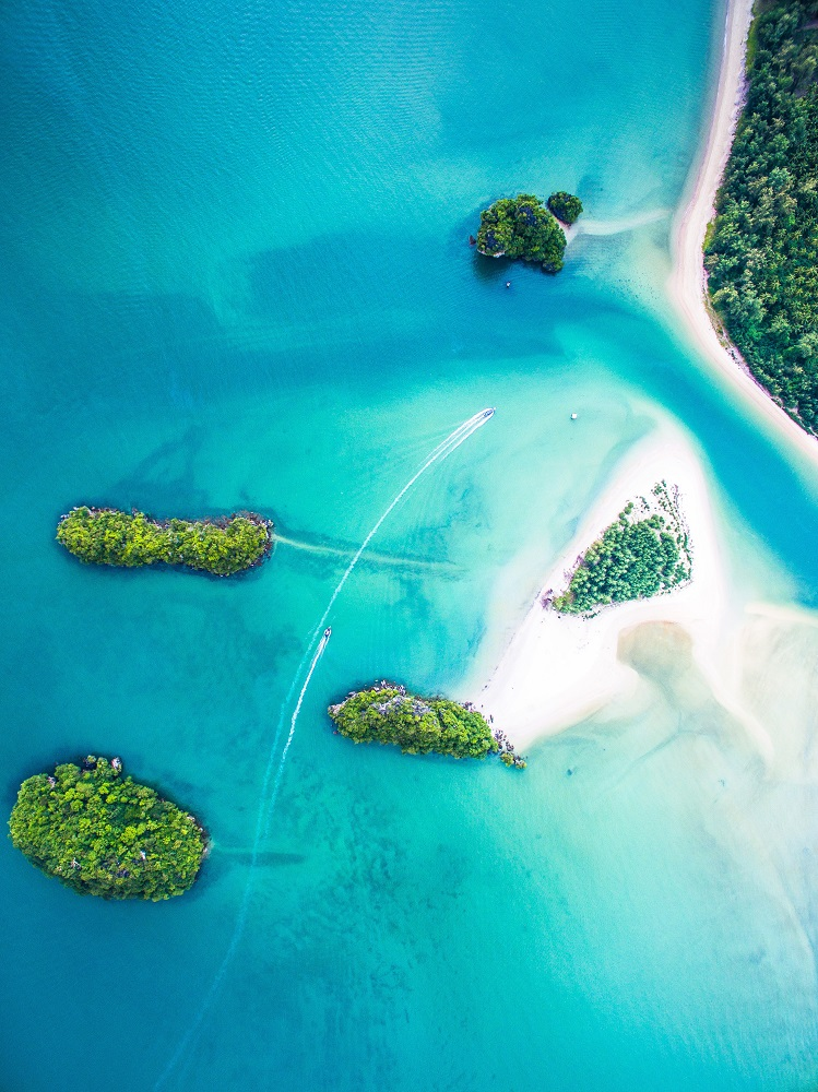 Drone image tropical islands