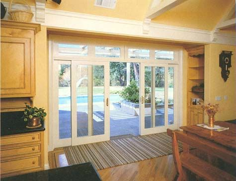 Classic annie house updates sliding glass doors the two center panels move the side ones stay stationary and open to be 6 wide and the doors would pretty much look exactly like this planetlyrics Gallery