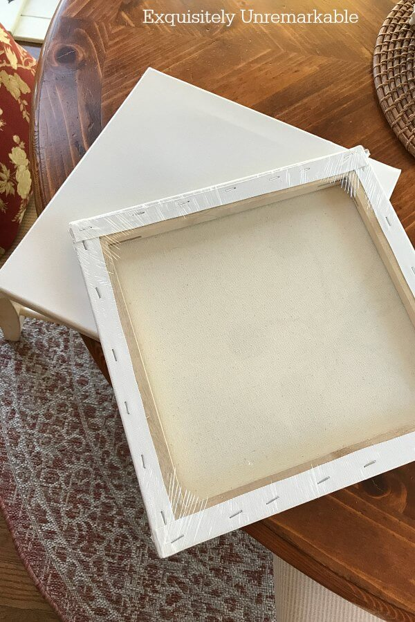 Stretched Canvas Upcycle Idea