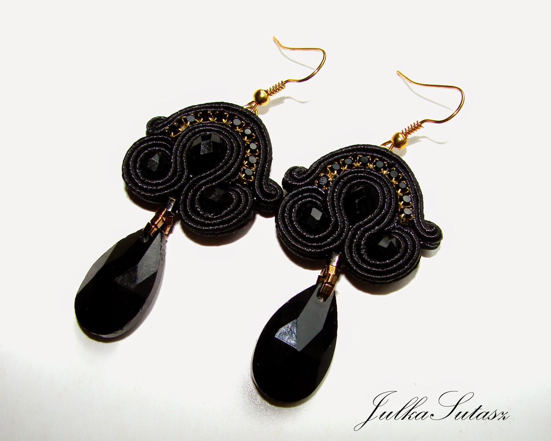 *Little black dress* Earrings | Polskie Rkodzieo