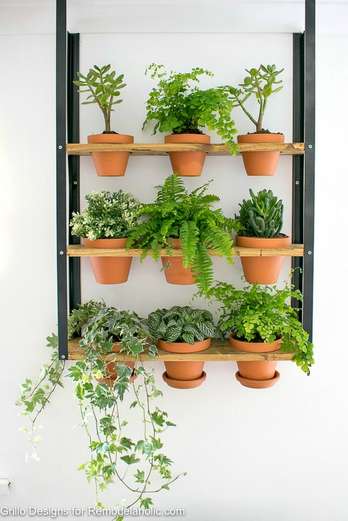 Industrial vertical wall planter