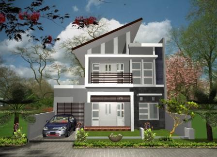 gambar desain rumah minimalis lantai dua terbaru 2016