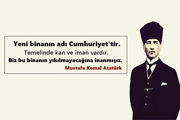 En Güzel Cumhuriyet  Bayrami Sözleri