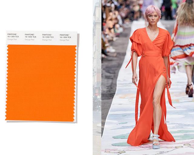 Апельсиновая корочка модные цвета весна-лето 2020 1
