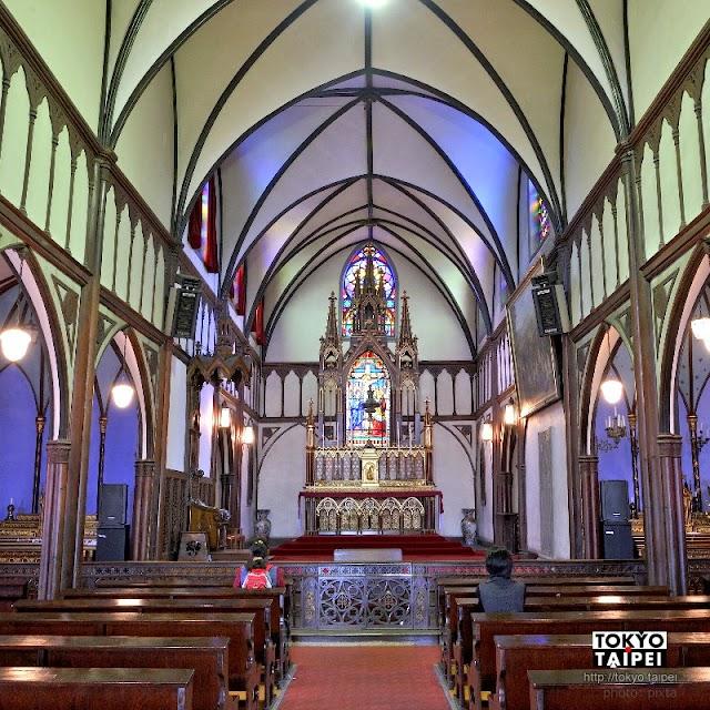 【大浦天主堂】日本現存最古老天主教堂 哥德式建築搭配超唯美彩繪玻璃