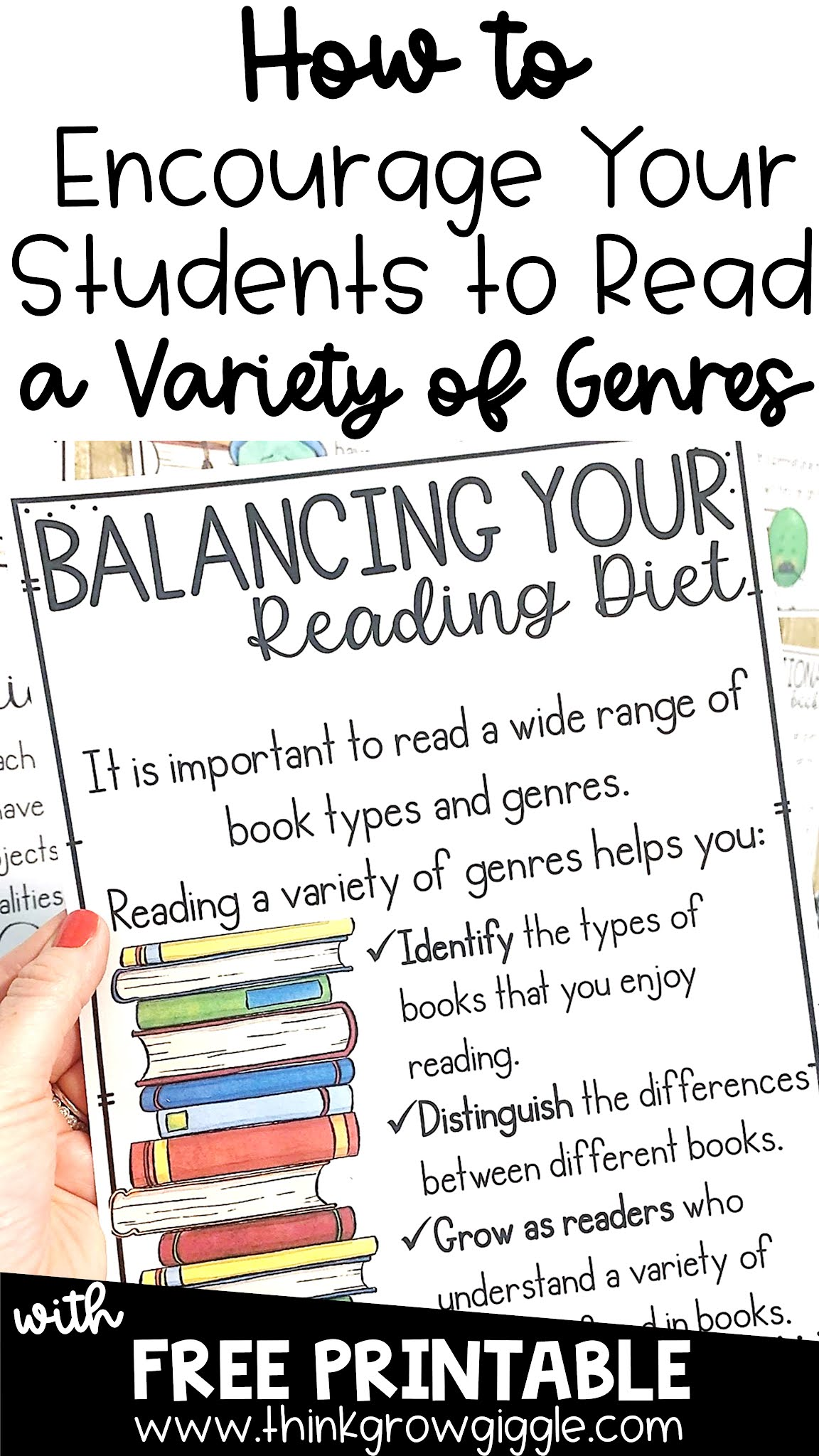 using a balanced diet for reading genre lessons