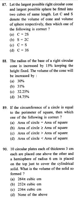 Mathematics  questions  for ssc english medium part 2