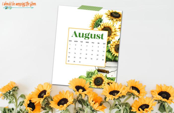 Sunflower Calendar Printables