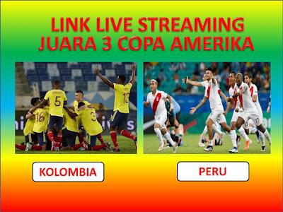 Link Live Streaming Juara Tiga Copa America 2021 Kolombia Vs Peru di Stadion Estádio Nacional de Brasília