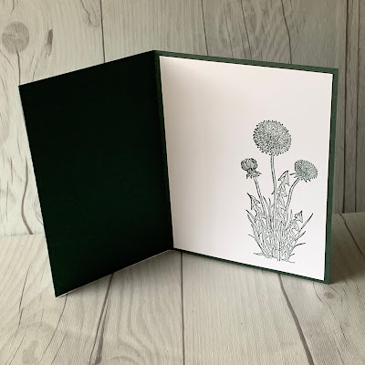 Inside of floral handmade greeting card using Stampin' Up1 Garden wishes