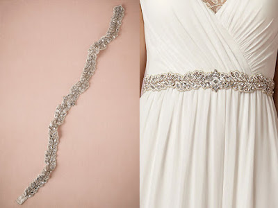 Dream Wedding Day Style Lover.ly Eucalyptus Fitted Sash Accessories