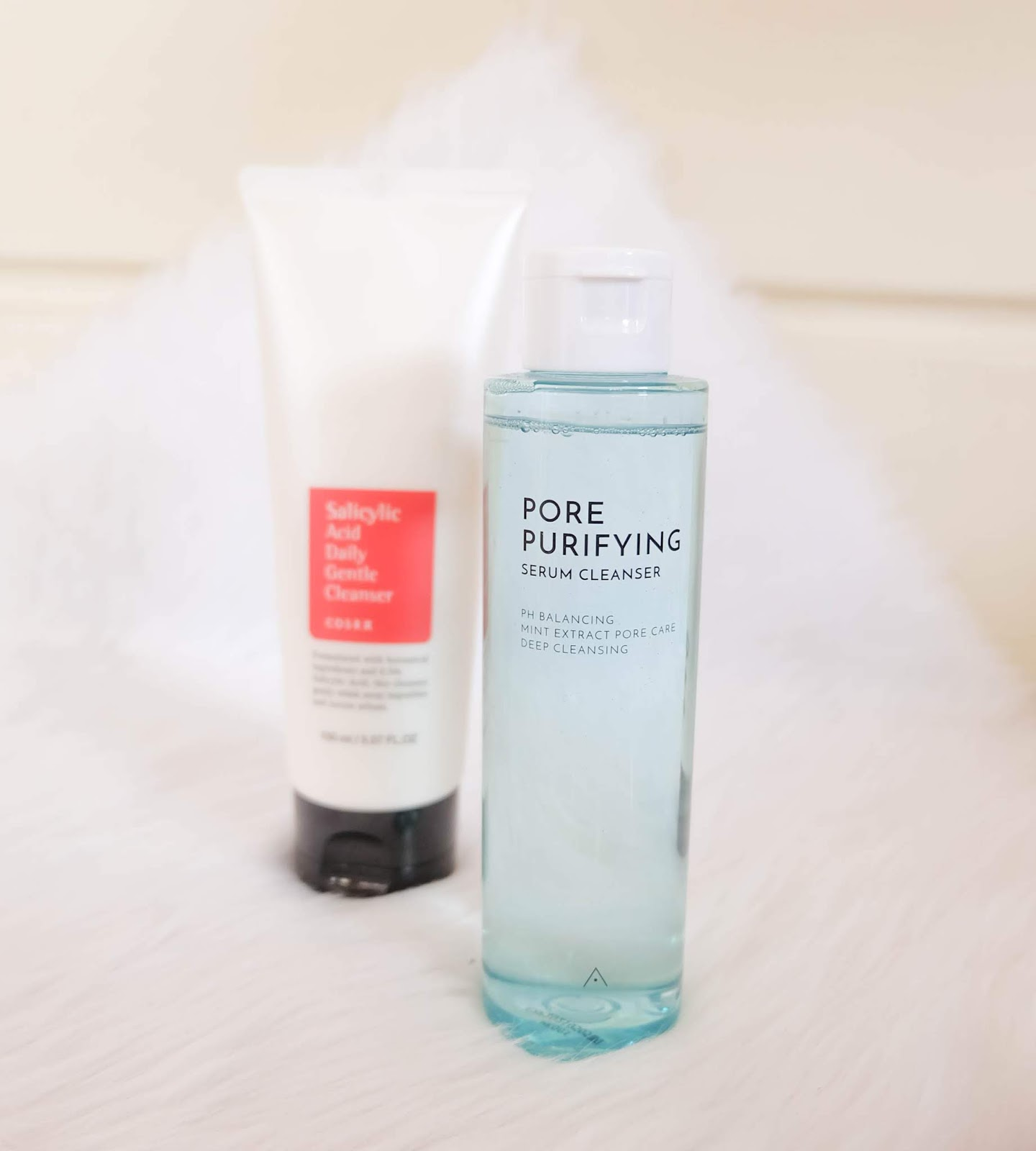 Althea Pore Purifying Serum Cleanser and CosRx Salicylic Acid Daily Gentle Cleanser
