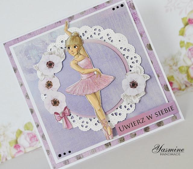 Kartka dla małej baletnicy