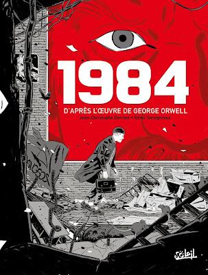 """couverture de """"1984"""" de Jean-Christophe Darrien et Rémi Terragrossa d'après George Orwell chez Delcourt"""