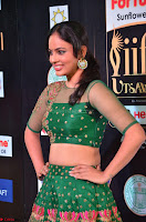 Nandita Swetha in a tight Green Choli Ghagra at IIFA Utsavam Awards March 2017 ~ 031.JPG