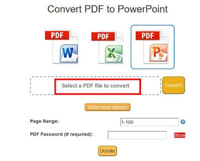 Cara mengubah pdf ke ppt tanpa software