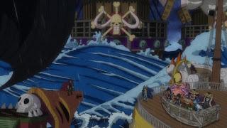ワンピースアニメ ワノ国編  百獣海賊団 海賊船   Beast Pirates Ship   Hello Anime !
