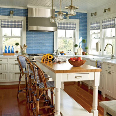 French Influence Kitchen Yellow Blue And White