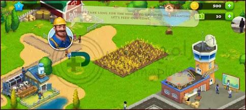 الزراعة داخل لعبة Township