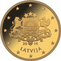Latvia 50 senttiä kolikko