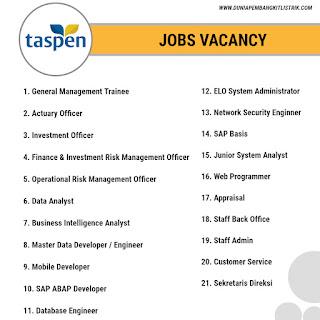 PT Taspen (Persero) Jobs: 21 Positions