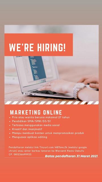Loker Kupang Waroenk Resto Oebufu Sebagai Marketing Online
