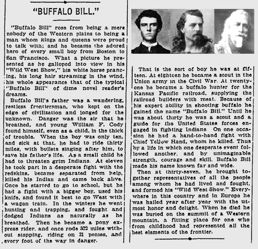 buffalo bill research paper Essays, term papers, book reports, research papers on book reports buffalo bill, wild bill walked out on the show returning for the plains.