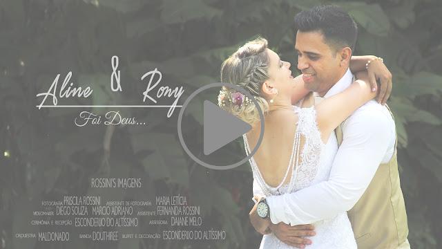 Trailer Casamento de Aline e Rony em Esconderijo do Altíssimo em Suzano - SP em 05-03-2016