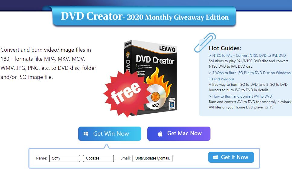 Giveaway: Leawo DVD Creator 2020