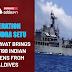 OPERATION SAMUDRA SETU - INS AIRAVAT BRINGS BACK 198 INDIAN CITIZENS FROM MALDIVES