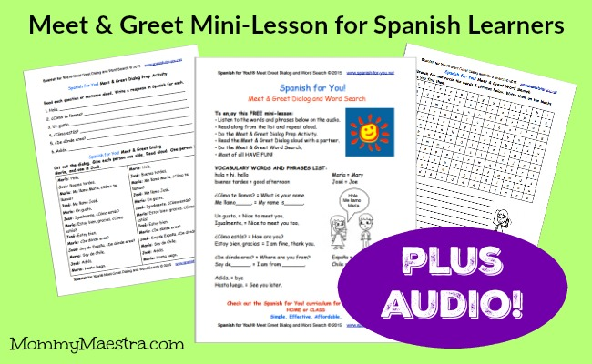 Mommy Maestra: Free Download: Meet & Greet Dialogue in Spanish