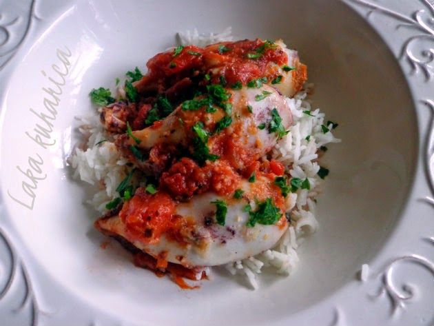 Baked stuffed calamari by Laka kuharica: a delicious and healthy dish full of  Mediterranean flavors.