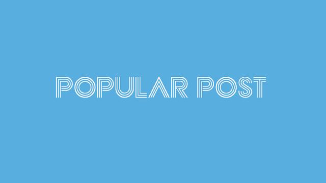 Overcoming the Popular Post Widget Error