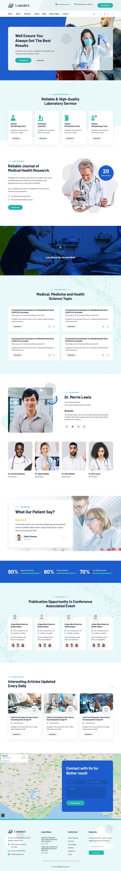 Laboratory & Research HubSpot Theme