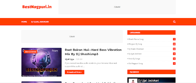 Best Blogger Theme/Templete For Music Download Website