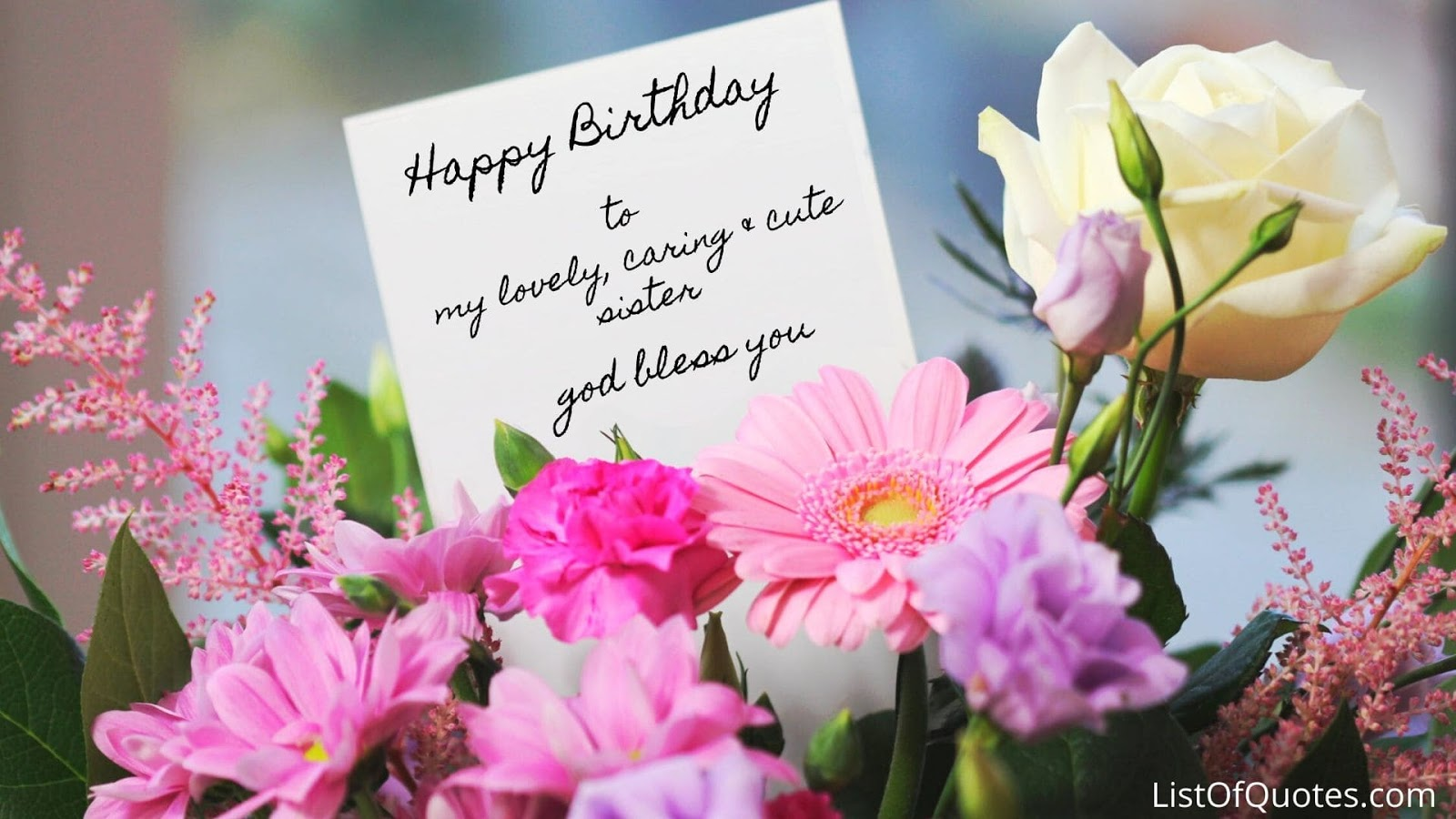 Happy Birthday Quotation Messages For Sister