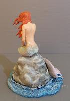 cake topper fantasy sirena scultura personalizzata su commissione mare orme magiche