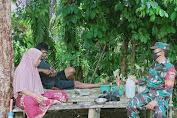 Lakukan Komsos, Babinsa Kota Raja Himbau Warga Binaan Tetap Patuhi Prokes Covid-19