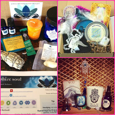Sapphire Soul subscription box review mystic angel hamsa gypsy